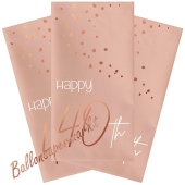 Servietten Elegant Lush Blush 40 zum 40. Geburtstag, 10 Stück