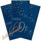 Servietten Elegant True Blue 60 zum 60. Geburtstag, 10 Stück