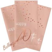 Servietten Elegant Lush Blush 70 zum 70. Geburtstag, 10 Stück