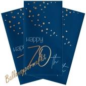 Servietten Elegant True Blue 70 zum 70. Geburtstag, 10 Stück