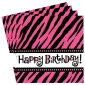 Happy Birthday Servietten, Oh So Fabulous, Dekoration Geburtstag