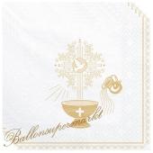 Servietten zur Taufe, gold
