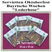 Oktoberfest - Bayrische Wochen- Servietten, 33 cm x 33 cm, 20 Stück