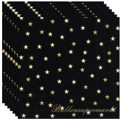Silvesterdeko Servietten, Little Stars, 20 Stück, 33x33 cm, 3-lagig