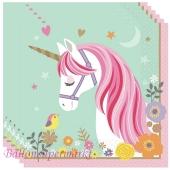 Magical Unicorn Servietten zum Einhorn Kindergeburtstag