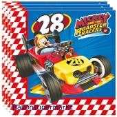Micky Maus Roadster Racers Servietten zum Kindergeburtstag