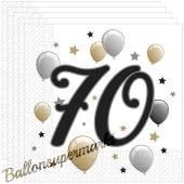 Servietten Milestone 70 zum 70. Geburtstag, 20 Stück