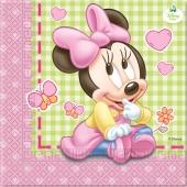 Servietten Kindergeburtstag, Baby Minnie Mouse