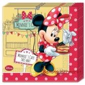 Servietten Minnie Maus Café zum Kindergeburtstag