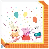 Party-Servietten, Peppa Pig