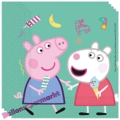 Party-Servietten, Peppa Wutz