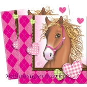 Pferde Servietten zum Kindergeburtstag