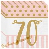 Servietten Pink Chic 70, zum 70. Geburtstag