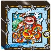 Pirates Servietten zum Kindergeburtstag