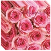 Servietten zur Hochzeit, Rosen, pink, Hochzeitsservietten, 20 Stück, 3-lagig
