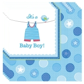 Servietten Babyparty Junge, Shower with Love Boy