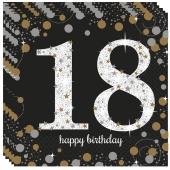 Servietten Sparklin Celebration, zum 18. Geburtstag