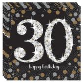 Servietten Sparkling Celebration 30, zum 30. Geburtstag