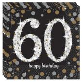 Servietten Sparkling Celebration 60, zum 60. Geburtstag