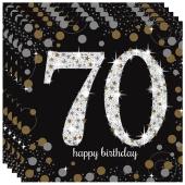 Servietten Sparkling Celebration 70, zum 70. Geburtstag