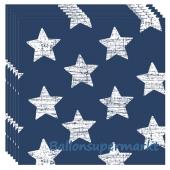 Servietten Retro Sterne, blau