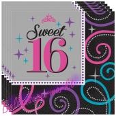 Servietten Zahl 16 zum 16. Geburtstag