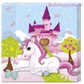 Unicorn Servietten zum Einhorn Kindergeburtstag