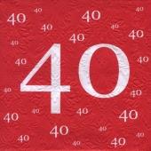 Servietten-40.Jubilaeum-Geburtstag-Jahrestag