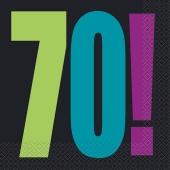 Servietten Geburtstag, Zahl 70, zum 70. Geburtstag, Birthday Cheer Party