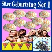 Geburtstagsdeko-Set 1 zum 50. Geburtstag