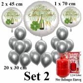 Set-1-Partydeko-Einweg-Helium-mit-Silvester-Luftballons Ein glückliches Neues Jahr