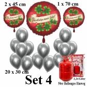 Set-4-Partydeko-Einweg-Helium-mit-Silvester-Luftballons-Glueckliches-Neues-Jahr