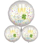 """3 Helium-Luftballons Bouquet """"Guten Rutsch"""""""