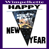 Silvester Dekoration Wimpelkette Happy New Year