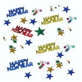 Silvester Konfetti Happy New Year