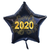 Silvester Luftballon, Sternballon aus Folie, 2020 - Feuerwerk