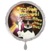 Silvester Luftballon: Frohes Neues! Alles wird gut!