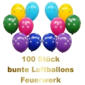 Silvester-Luftballons-Feuerwerk-100-bunte-Luftballons
