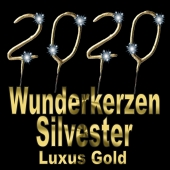 Zahlen-Wunderkerzen Gold Silvester 2020