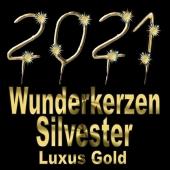 Zahlen-Wunderkerzen Gold Silvester 2021