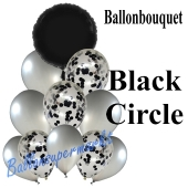 Ballon-Bouquet Black Circle mit 11 Luftballons