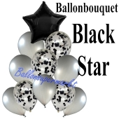 Ballon-Bouquet Black Star mit 11 Luftballons