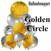 Ballon-Bouquet Golden Circle mit 11 Luftballons