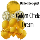 Ballon-Bouquet Golden Circle Dream mit 11 Luftballons