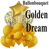 Ballon-Bouquet Golden Dream mit 11 Luftballons
