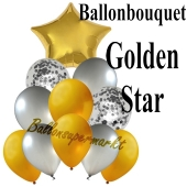 Ballon-Bouquet Golden Star mit 11 Luftballons