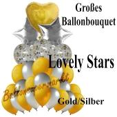 Großes Ballon-Bouquet Lovely Stars mit 27 Luftballons