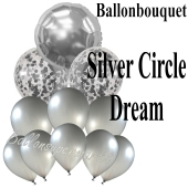 Ballon-Bouquet Silver Circle Dream mit 11 Luftballons
