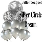 Ballon-Bouquet Silver Circle Dream mit 11 Luftballons