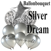 Ballon-Bouquet Silver Dream mit 11 Luftballons